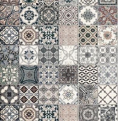 Perfekt Muster Von Dekorplatte U2013 Vintage Fliese U2013 U201cSatinu201d
